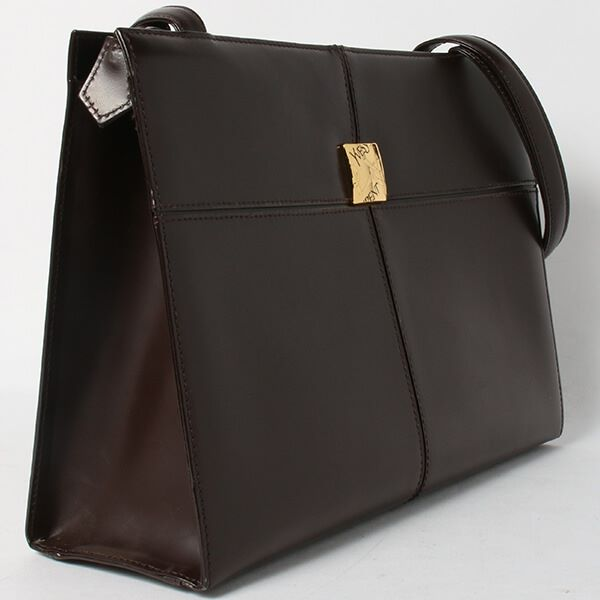 yves-saint-laurent-logo-plate-handbag-brown