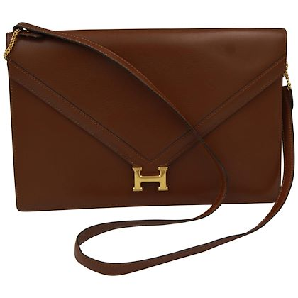 1985-brown-vintage-hermes-lydie-shoulder-bag-clutch