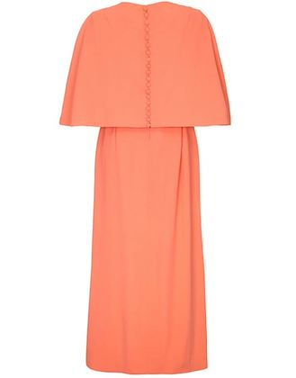 harry-b-popper-1960s-peach-maxi-dress-with-cape-and-jewelled-belt-uk-size-12-14