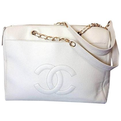 vintage-chanel-white-caviar-leather-chain-shoulder-large-shoulder-bag-tote-bag-with-golden-chain-handles-and-large-cc-stitch-mark-classic