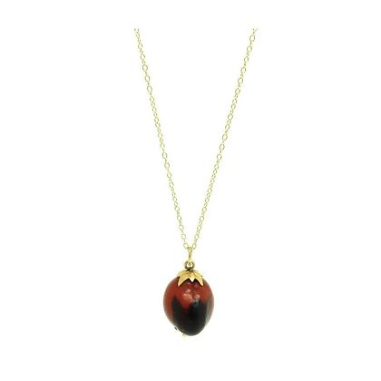 antique-red-seed-charm-9ct-gold-necklace