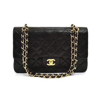 c8ad87d499c0 ... vintage-chanel-255-10-double-flap-black-quilted-