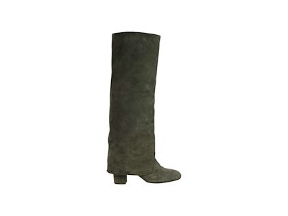 sage-green-chanel-quilted-suede-boots