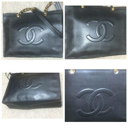 vintage-chanel-black-caviar-leather-extra-large-tote-bag-with-gold-tone-chain-handles-and-cc-motif-classic-purse-for-daily-use