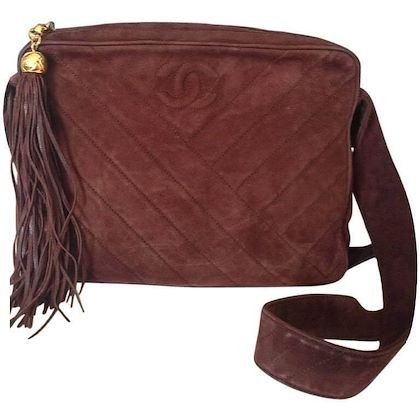 vintage-chanel-dark-brown-v-stitch-suede-leather-shoulder-bag-with-cc-stitch-mark-and-long-tassel-best-chanel-purse