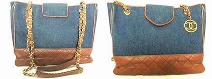 vintage-chanel-blue-jean-denim-and-dark-brown-leather-combination-classic-shopper-shoulder-tote-bag-with-golden-cc-round-charm