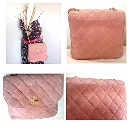 vintage-chanel-light-pink-quilted-suede-255-shoulder-bag-with-gold-tone-chain-strap-very-nice-and-soft-classic-purse