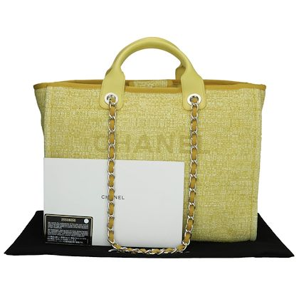 chanel-deauville-tote-large-yellow-canvas-silver-hardware-2018