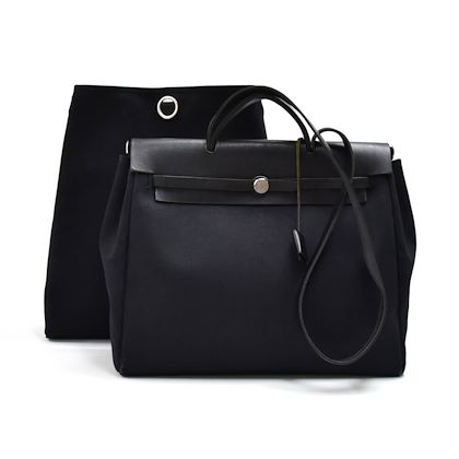 hermes-herbag-40-mm-2-in-1-black-canvas-leather-shoulder-bag-2
