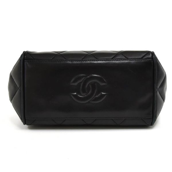 vintage-chanel-mini-black-quilted-lambskin-leather-chain-shoulder-bag-2