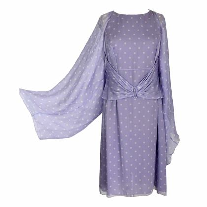 valentino-sheath-evening-dress-stole-polka-dot-silk-vintage-lilac