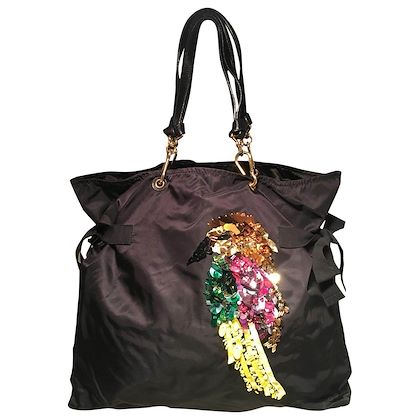 marc-jacobs-black-nylon-beaded-tropical-chappy-bird-tote