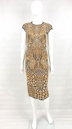 alexander-mcqueen-stretch-knit-golden-and-black-dress-2009
