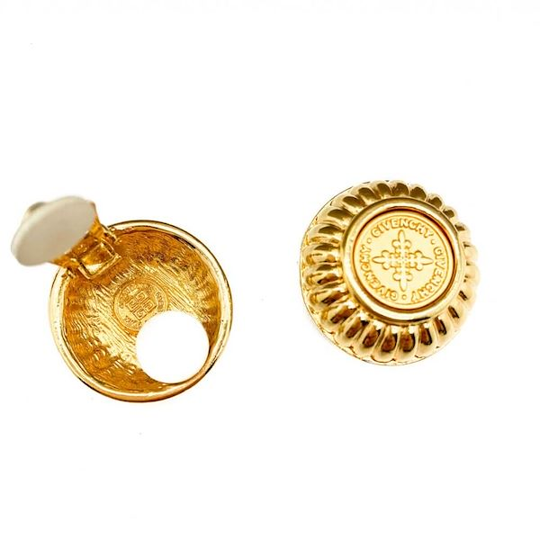 vintage-givenchy-gold-coin-earrings-1980s