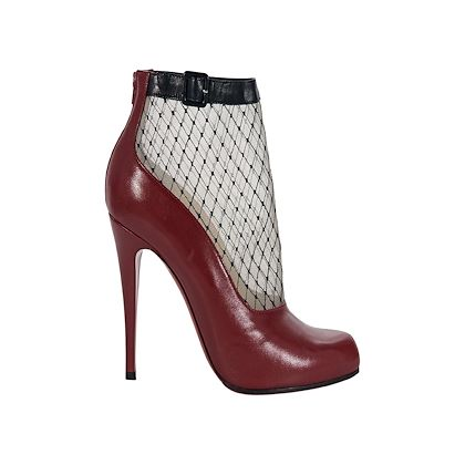 red-christian-louboutin-leather-fishnet-ankle-boots