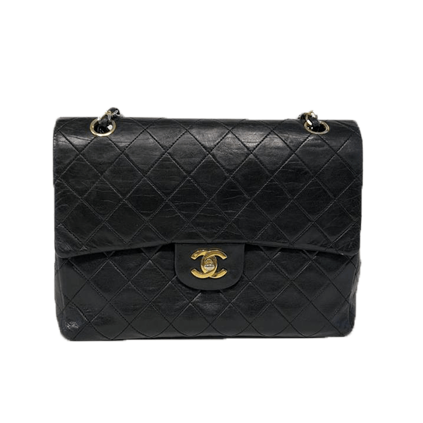 chanel-255-classic-flap-bag-in-black-leather-with-gold-colored-hardware