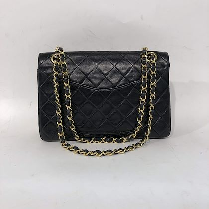 chanel-235-classic-flap-bag-in-black-lambskin-leather-with-gold-colored-hardware
