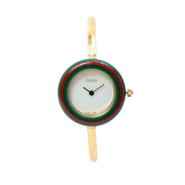 fd77e1da064 Gucci Changeable Bezel Watch 10colors Gold