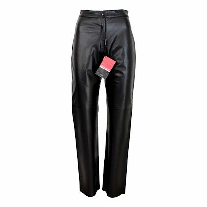 pierre-cardin-classic-trousers-leather-vintage-black