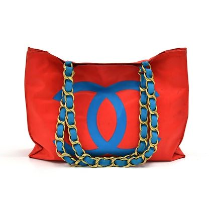 vintage-chanel-red-blue-nylon-jumbo-shopping-tote-bag