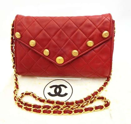 1980s-vintage-chanel-red-lamb-leather-shoulder-bag-with-golden-cc-button-motifs-at-flap-rare-purse