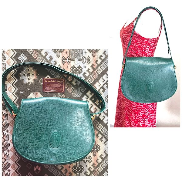 vintage-cartier-green-grained-leather-oval-round-shape-shoulder-bag-rare-color-bag-from-must-de-cartier-collection-must-have-purse