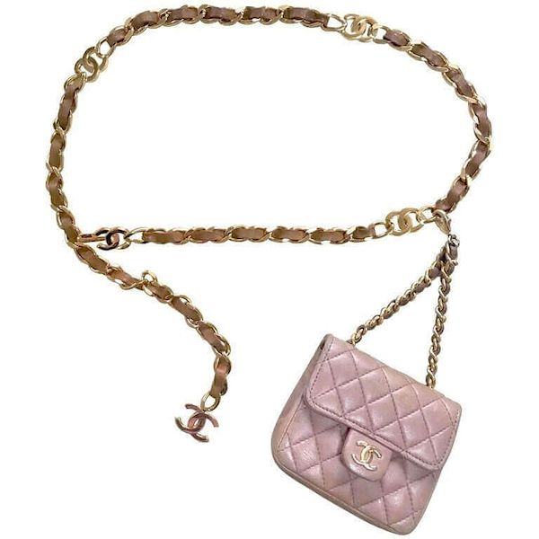 644836d4958e Vintage CHANEL taupe brown lambskin mini 2.55 bag charm with brown ...