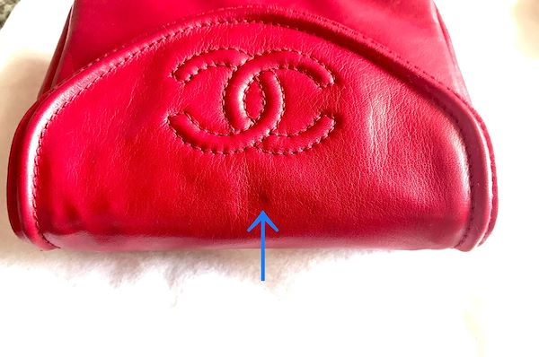 c8c55b2498a0 Vintage CHANEL red fanny pack, leather belt bag with detachable ...