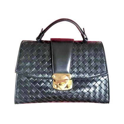 1990s-vintage-bottega-veneta-classic-black-lamb-leather-intrecciato-handbag-with-golden-closure-hock-gorgeous-masterpiece-from-bottega