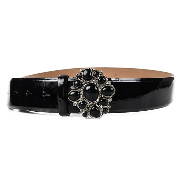 chanel-gripoix-belt-black-patent-leather-black-stone-buckle-09p-90-36-new