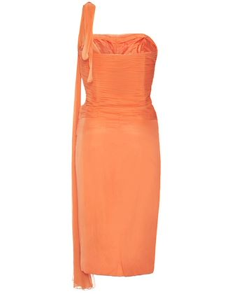 harrods-1950s-or-early-1960s-orange-silk-georgette-dress-size-6-8