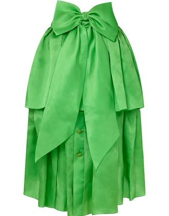 chanel-1980s-emerald-green-silk-organza-skirt-with-bow-detail-uk-size-6-8