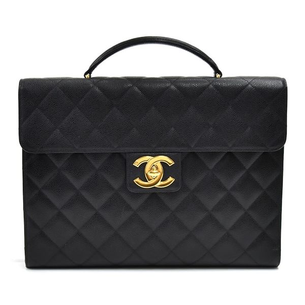 vintage-chanel-black-caviar-quilted-leather-briefcase-2