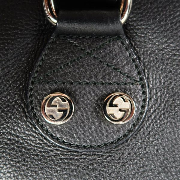 gucci-xl-black-leather-shoulder-bag-zip-gg-logo-clasp-flap-pocket-large-pre-owned-used