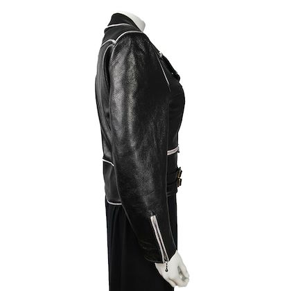 gucci-black-leather-motorcycle-jacket-womens-white-trim-zip-up-it-38-us-0-pre-owned-used
