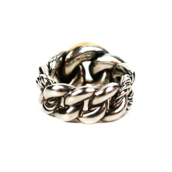 david-yurman-ring-belmont-curb-link-18k-gold-sterling-silver-85-pre-owned-used