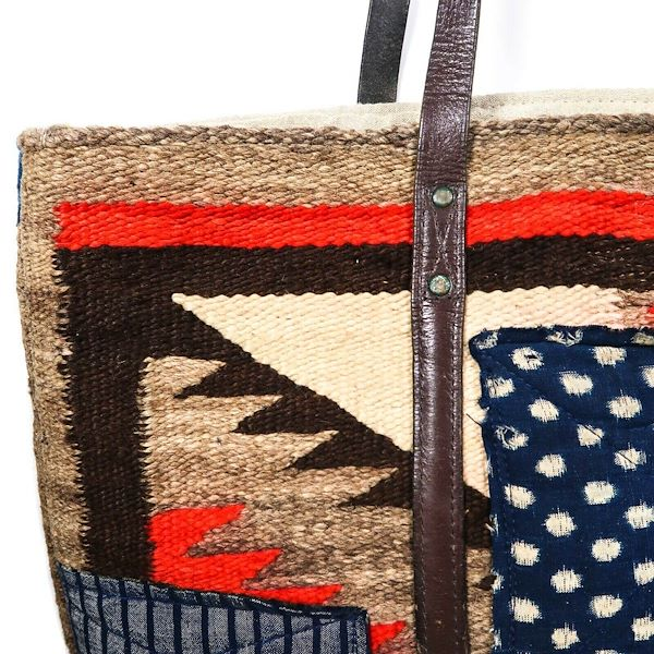 ralph-lauren-blue-denim-red-canvas-woven-large-tote-bag-western-style-new