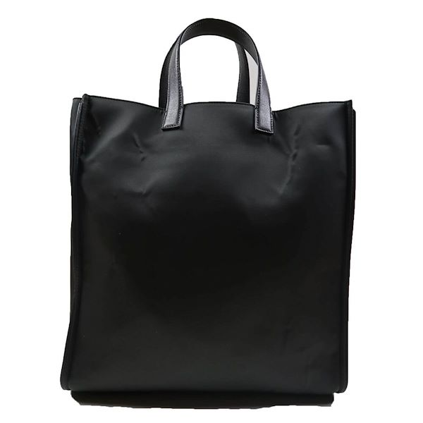 fendi-red-eyed-monster-face-black-nylon-leather-tote-bag-new