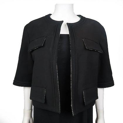 chanel-black-cropped-jacket-4-pockets-42-us-10-pre-owned-used
