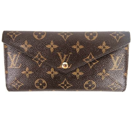 louis-vuitton-brown-leather-lv-monogrammed-envelop-wallet-pre-owned-used