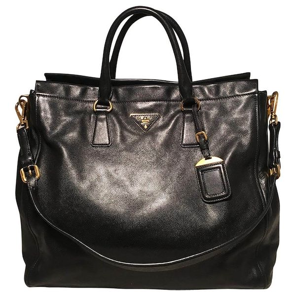 prada-black-leather-saffiano-top-handle-tote-shoulder-bag