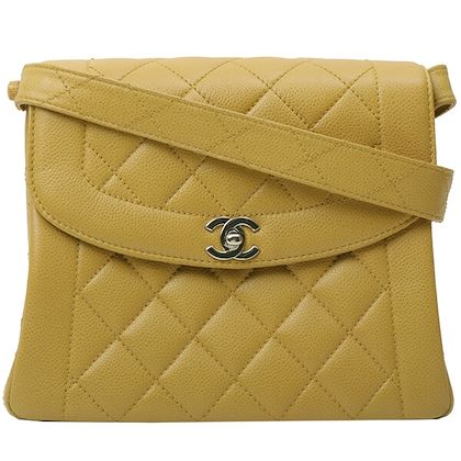 chanel-caviar-skin-cc-mark-turn-lockhandbag-yellow
