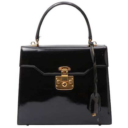 gucci-patent-lady-lock-handbag-black