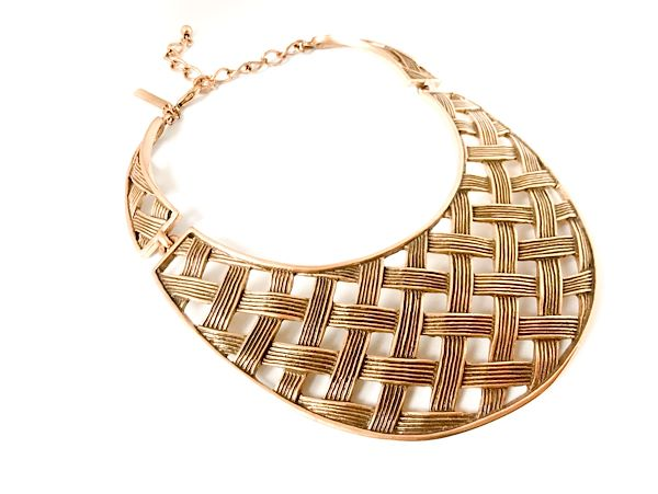 oscar-de-la-renta-basketweave-bib-collar-necklace-new