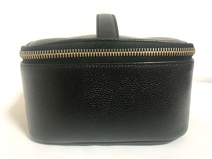 f9084db67657 vintage-chanel-black-caviar-leather-cosmetic-and-toiletry- ...