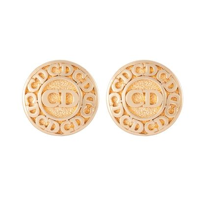 1980s-vintage-christian-dior-monogram-clip-on-earrings
