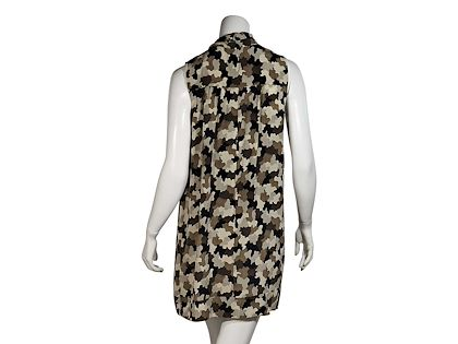 brown-prada-camo-printed-silk-shift-dress