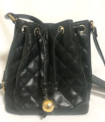 7ff1a00cbd3ad vintage-chanel-black-quilted-caviar-leather-hobo-bucket- ...