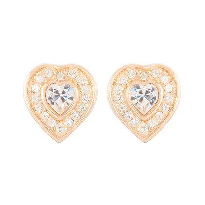 1970s Vintage Christian Dior Heart Clip-On Earrings