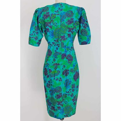 emanuel-ungaro-long-sheath-dress-vintage-floral-cotton-green